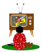 Boy watching tv — Stock Photo