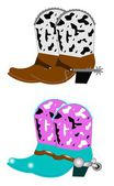 Cowboy boots ans spurs — Stock Vector