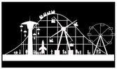 Carnival silhouette — Stock Vector