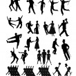 Dancers collection in silhouette — Stock Vector #44369659