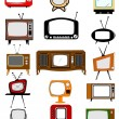 Retro television collection — Stock Vector