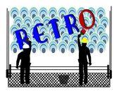 Retro billboard background — Stockvektor