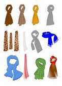 Scarves collection — Stock Photo