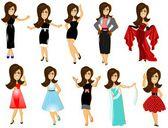 Women of fashion and poise — Stock Photo