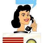 Radio caller concept — Stock Photo #49944233