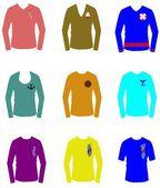 Nautical inspired t shirts — Stock Vector