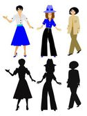 Fashionable women — Stock Photo