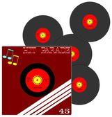 Retro record 45 rpm — Stock Photo
