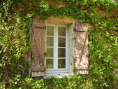 French farmhouse window — Stockfoto
