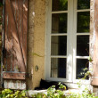 French farmhouse window - Stock Photo