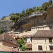 Stock Photo: Limestone cliffs in Les Eyzies, Dordogne, France