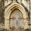 Stock Photo: Medieval Arched Double Doors