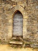 Medieval Arched Door — Stock Photo