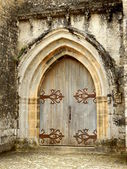 Medieval Arched Double Doors — Stock Photo