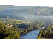 Dordogne Landscape at Sunrise — Stock Photo