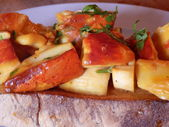 Gurme mantar tost — Stok fotoğraf