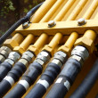 Stock Photo: Hydraulic Pipes and Hoses