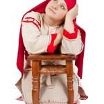 Russian village girl — Stock Photo #16937549