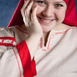 Russian village girl — Stock Photo
