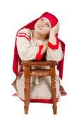 Russian village girl — Stock Photo