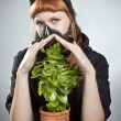 The last plant on Earth — Stock Photo
