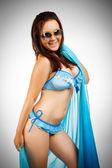 Pretty beach girl — Stock Photo