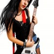 Rocker chick — Stock Photo
