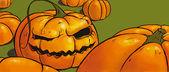 Wicked pumpkin — Stock Photo