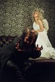 悪魔と天使 — ストック写真
