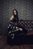 Gothic lady — Stock Photo