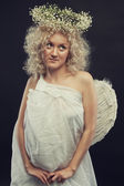 Little cute angel — Stock Photo