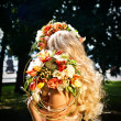 Bride with flowers — Foto Stock
