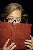 Sad student with book — Stock Photo