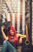 美国女孩 — 图库照片