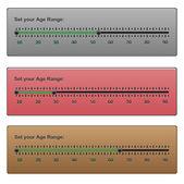 Age Range. — Stock Vector