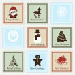 Christmas stamp set — Stock Vector