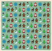 Nahtlose weihnachten muster auf grunge hintergrund — Stockvektor