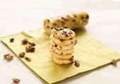 Cranberry cookies on green napkin — Stock Photo