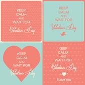 Happy valentine's day cards — Stock Vector