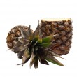 Half-cut pineapple isolated on white — Stock Photo #44606235