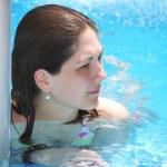 Healthy girl in swimwear — Stock Photo