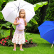 little girl with a umbrella  — Stock Photo