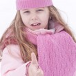Girl in snow — Stock Photo #17146589