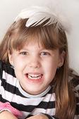 Happy little girl — Stock Photo