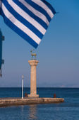 Rhodes Landmark Mandrake Port. Greece — Stock Photo