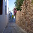 Street in Lindos - Stock Photo