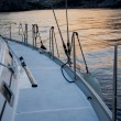 Sailboat crop - Stock Photo