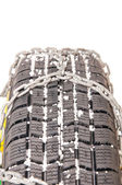 Auto tire chains — Stock Photo