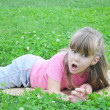 Girl in the grass — Stock Photo #18029993