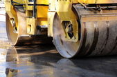 Heavy Vibration roller compactor — Stock Photo